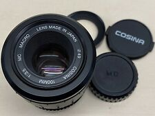 Cosina 100mm f/3.5 Macro MF Lens for Minolta MD with matched adaptor