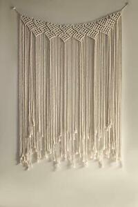 Macrame Wall Hanging Hand Woven Tapestry Boho Chic Art Bohemian Home Decor Large