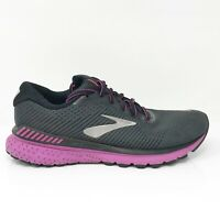 Brooks Womens Adrenaline GTS 20 1202961B062 Black Running Shoes Lace Up Sz 10 B