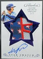 WANDER FRANCO 💎 Flawless 4th of July Stars & Stripes Rookie Patch Auto #1/ RARE