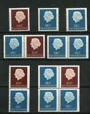Nederland Alle unieke combinaties uit postzegelboekje 3 - cat waarde € 12,50