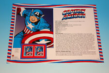 Captain America USPS First Day Of Issue Stamp Proof Panel Marvel Comics FDC 2007