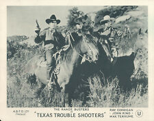 Texas Trouble Shooters original lobby card John King Max Terhume on horseback