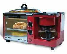 Electric Oven Baking Toaster Large With Eggs Frying Pan Omelette For Breakfast