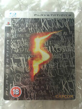 NUOVI DI FABBRICA SIGILLATA Resident Evil 5 Limited Steelbook Edition PS 3 SONY PLAYSTATION