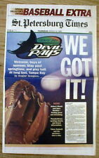BEST 1995 newspaper TAMPA BAY RAYS become a New Major League baseball team