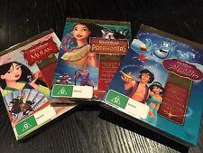 Disney Musical Masterpiece Trilogy Aladdin Mulan Pocahontas (DVD, 2009, New)