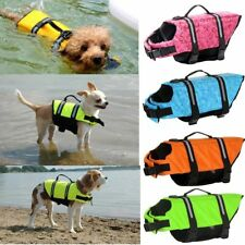 Pet Safety Vest Dog Life Jacket Reflective Stripe Preserver Puppy Swimming XS-XL