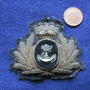 OLD MERCHANT NAVY HAT BADGE (UNKNOWN SHIPPING LINE)