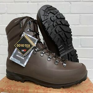 ITURRI BROWN LEATHER COLD WET WEATHER COMBAT BOOTS - 12 Large  British Army NEW