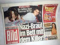 Bildzeitung vom 18.11.2011 zur Geburt * Beate Zschäpe* Christine Neubauer *