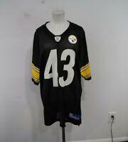 Reebok On Field Troy Polamalu #43 Pittsburgh Steelers Men's NFL Jersey Black  L