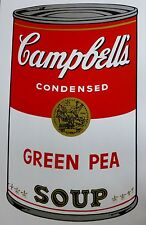 ANDY WARHOL CAMPBELLS' GREEN PEA Soup Can SUNDAY B.MORNING Silkscreen Print COA