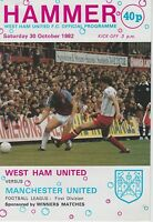MANCHESTER UNITED AWAY PROGRAMMES 1982~83  ~ YOU CHOOSE OPPONENTS FREE POSTAGE