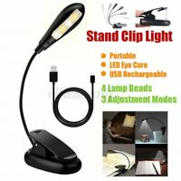 Flexible Clip On LED Book Reading Light Portable Lamp Tablet Laptop