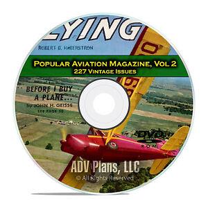 Popular Aviation Magazine, Vol 2, 227 Issues, 1945-1963, American Flight DVD D08