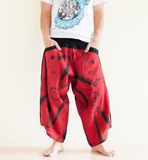 41a82d16ad3c5 Hippie Japanese Style Harem Pants Yoga Trousers Casual Summer Ninja Brush  Red