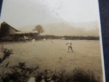 CRICKET AT FAIRBANK old photo just  50x 55 mm nice  scene  prior WW2  MID 1930S