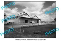OLD 8x6 PHOTO FEATURING SMITHTON TASMANIA VIEW OF THE CANNERY FACTORY c1960
