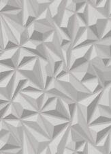 Grey Geometric Wallpaper 3d Effect Textured Luxury Vinyl Modern Erismann X 3