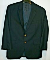 CHAPS, Ralph Lauren NAVY BLUE BLAZER Gold Buttons All Wool 46 Reg