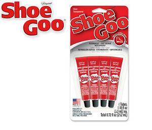 Shoe Goo 4x Small Handy Mini Tubes - Clear Adhesive Reapir for Shoes - 5.3ml x4