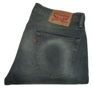 Hommes Levi's 511 Délavé Effet Gris (1331) Slim Fit Jeans Extensible W33 L32