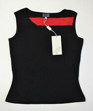 90s NWT GIANNI VERSACE VERSUS Top Wool Blend T-Shirt Sexy Red Black Vintage