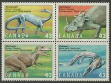 CANADA 1993 #1498a - Prehistoric Life in Canada 3: Dinosaurs (Block of 4) - MNH
