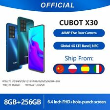"Cubot X30 6.4"" Android 10 Smartphone 8Gb + 256Gb 48MP Five Camera + 32MP Selfie"
