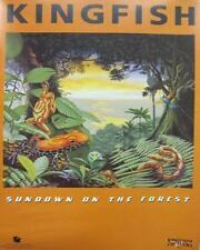 KINGFISH 1999 sundown on the forest promo poster BOB WEIR JERRY GARCIA ~NEW~!