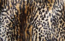 "Faux Fur Velboa Fabric Animal Print WILDCAT 60"" Wide sold By the Yard"
