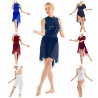 Women's Ballet Backless Sleeveless Dance Wear Dress Gymnastics Ballroom Leotard