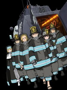 Anime Fire Force Shinra, Tamaki Poster Group High Grade Glossy Laminated