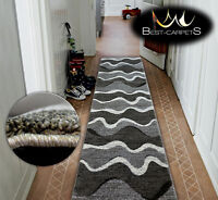 Very Thick Hall Runner SHADOW 8649 Width 80-120cm extra long Soft Densely RUGS