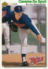 506 ALLAN ANDERSON MINNESOTA TWINS  BASEBALL CARD UPPER DECK 1992