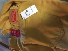Yellow   LEVI'S LEVIS Levi Strauss  541  straight leg jeans NWT 42x30 42