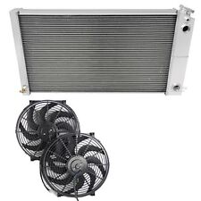 Pontiac Grand Prix Radiator for LS Conversion,Champion 3 Row DUAL-PASS, Fan(s) &