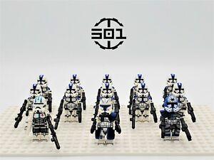Star Wars 501st Legion Captain Rex Jesse Echo 13pcs Army Lot Custom Set