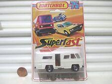 Lesney Matchbox 1980 MB54D Cream Mobile Home Orange Interior Black Base NUonCard