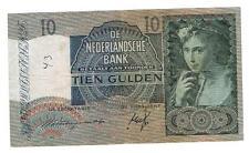 NEDERLAND BANKBILJET 10 GULDEN 1940 II 42-1