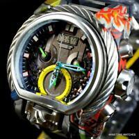 Invicta Reserve Magnum Hydroplated Graffiti Swiss Mvt 52mm Black Watch New
