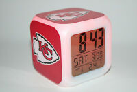 Kansas City Chiefs NFL LED Digital Alarm Clock Light Lamp Decor Patrick Mahomes
