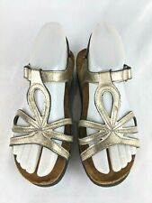 NAOT Dorith Metallic Gold Leather Strappy Sandals Shoes Women's Size: 36 / 5