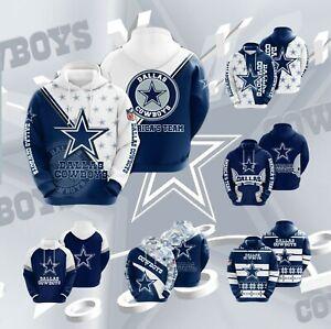 Dallas Cowboys Hoodie 3D Print Fan Sweatshirt Casual Pullover Hooded Jacket Gift