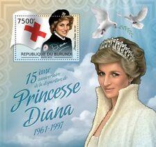 DIANA PRINCESS OF WALES (British Red Cross Uniform) MNH Stamp Sheet/2012 Burundi