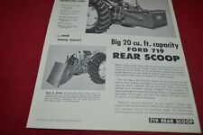 Ford Tractor 719 Rear Scoop Dealers Brochure AMIL15