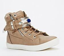Shumaxx  Zipper Trim Hi-Top Trainers Shoes UK Size 8  EU 41 Khaki