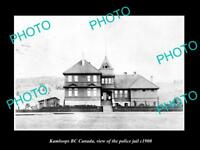 OLD LARGE HISTORIC PHOTO OF KAMLOOPS CANADA, VIEW OF THE POLICE JAIL c1900