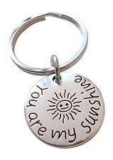My Sunshine and Small Sun You Are My Sunshine Saying Keychain